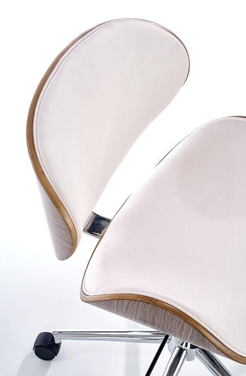 Komfortowy fotel gabinetowy Whitor - jasny