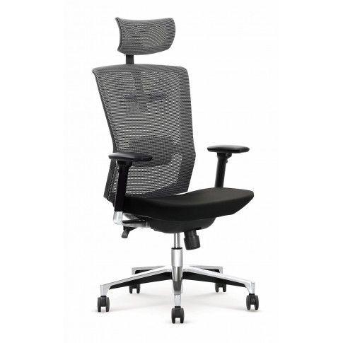 Zdjęcie produktu Fotel obrotowy Ragis - czarno - popielaty.