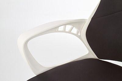Innowacyjny fotel obrotowy Haxel - czarno - biały