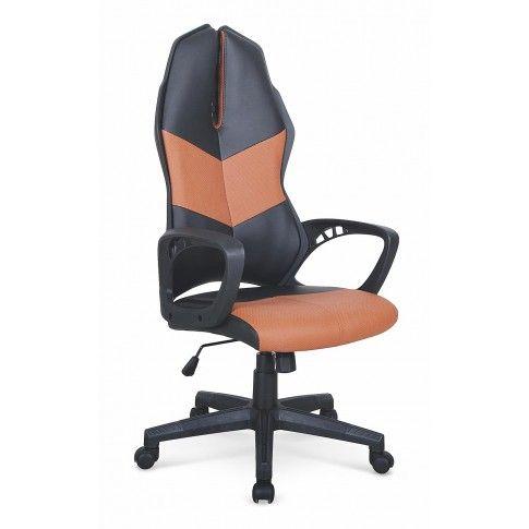 Zdjęcie produktu Elegancki fotel gabinetowy Ortis - czarno - brązowy.