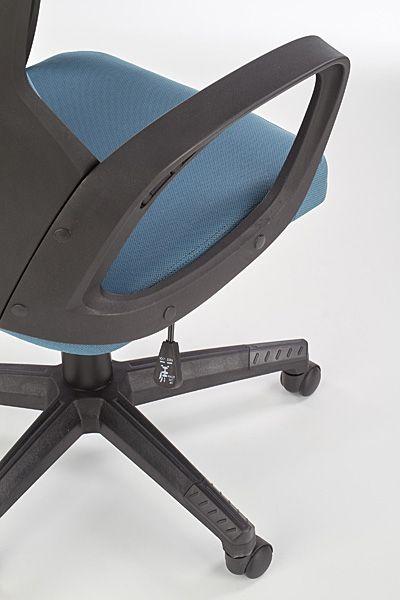 Komfortowy fotel do gabinetu Nathan - niebiesko - czarny