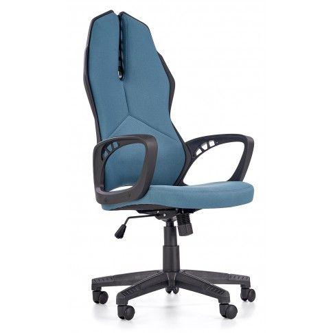 Zdjęcie produktu Fotel gabinetowy Nathan - niebiesko - czarny.