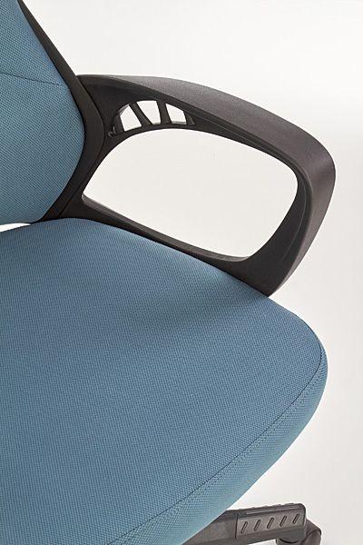 Wygodny fotel obrotowy Nathan - czarno - niebieski