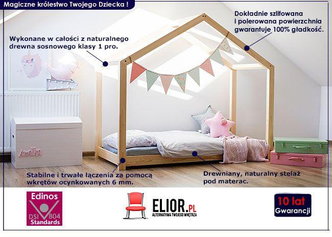 Drewniane łóżko domek dla dziecka Miles 10X