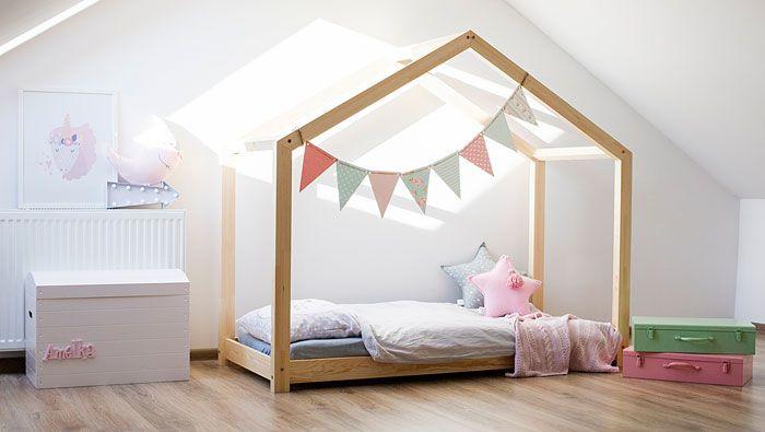 Drewniane młodzieżowe łóżko domek Miles 10X