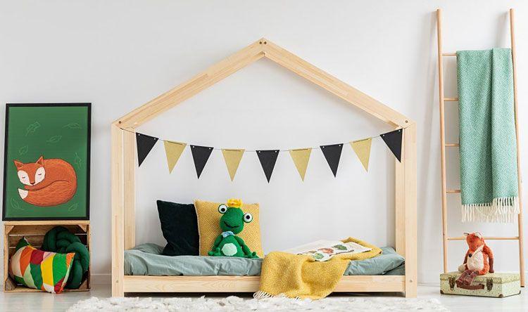 Drewniane łóżko domek Miles 10X