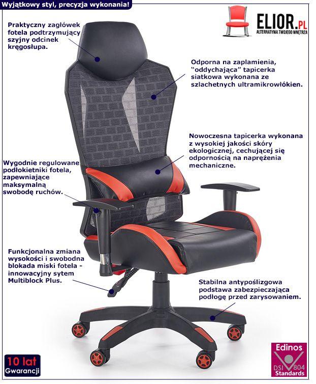 Nowoczesny fotel do gabinetu Nikos - czarny