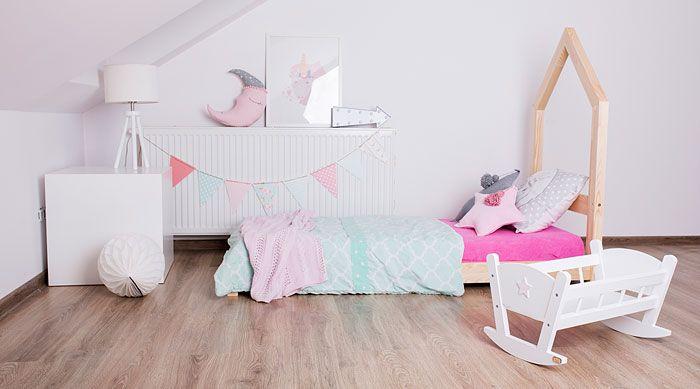 Czarujące łóżko dziecięce domek Miles 12X