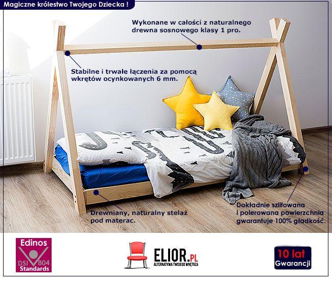Dziecięce łóżko tipi drewniane Miles 13X