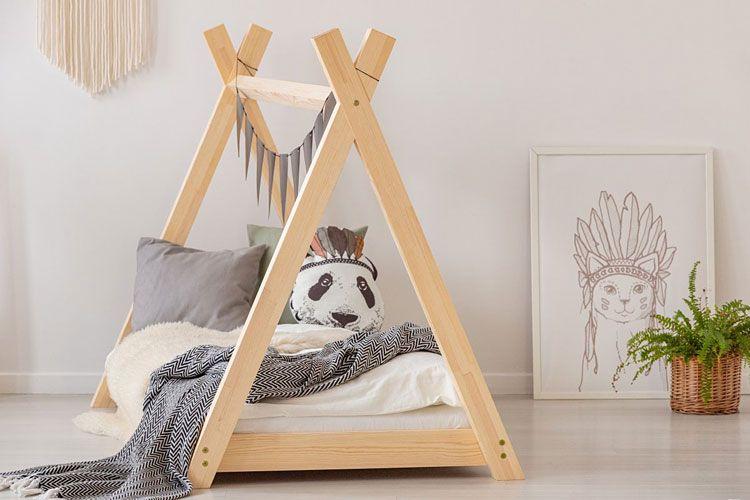 Drewniane łóżko domek tipi Miles 13X