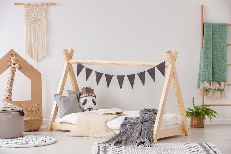 Drewniane łóżko dziecięce tipi Miles 13X