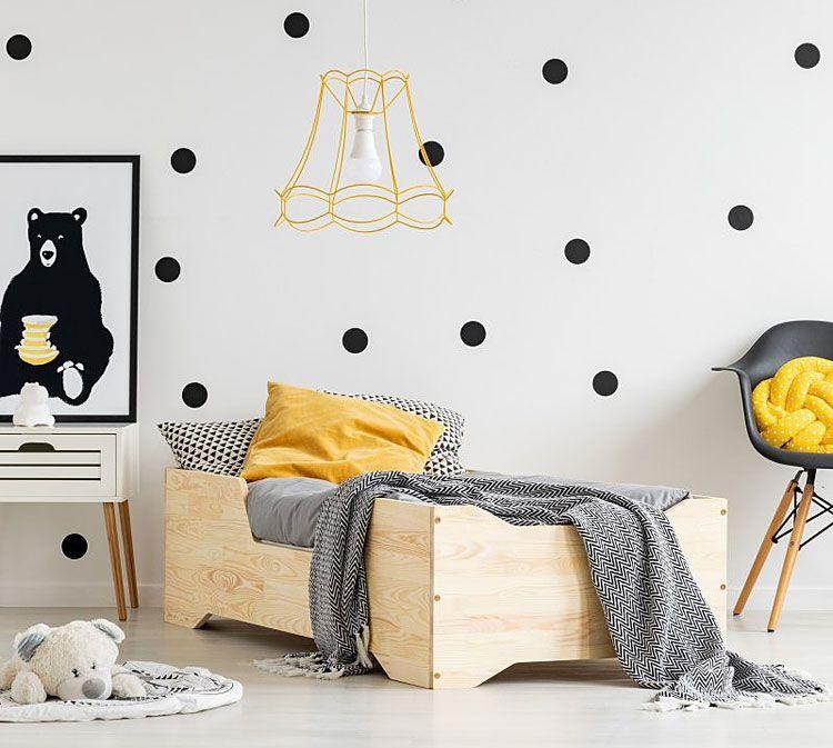 Dziecięce łóżko drewniane Lexin 2X