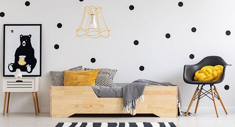 Drewniane łóżko dla dziecka Lexin 2X