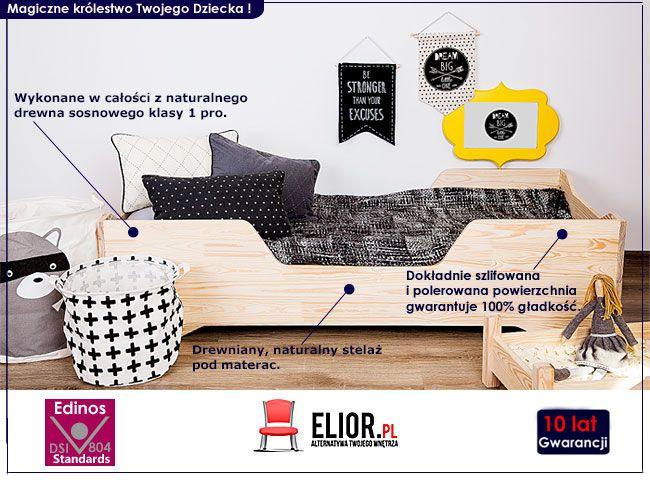 Drewniane łóżko młodzieżowe Lexin 2X
