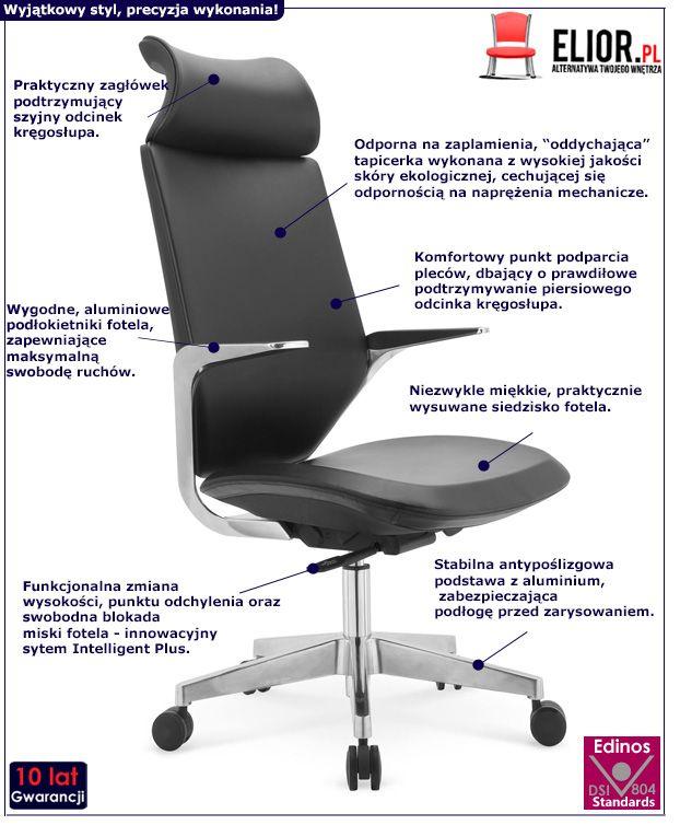 Nowoczesny fotel gabinetowy Maron - czarny