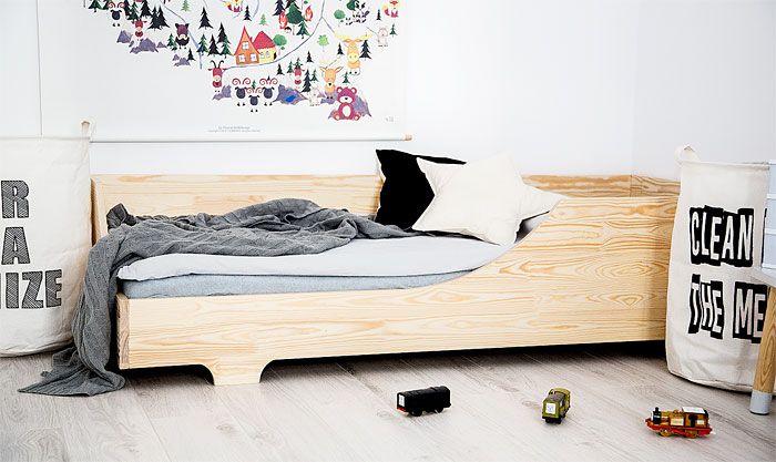 Drewniane łóżko dla dziecka Lexin 5X