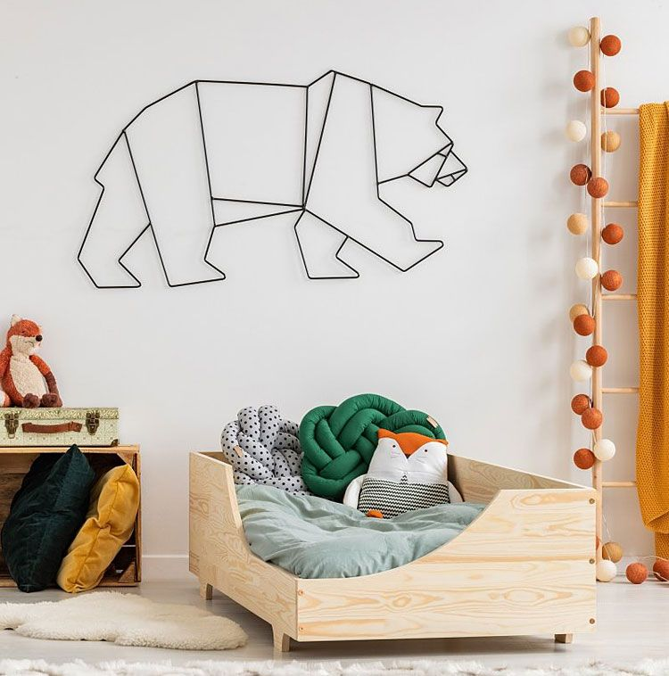 Drewniane łóżko dla dziewczynki, chłopca Lexin 5X