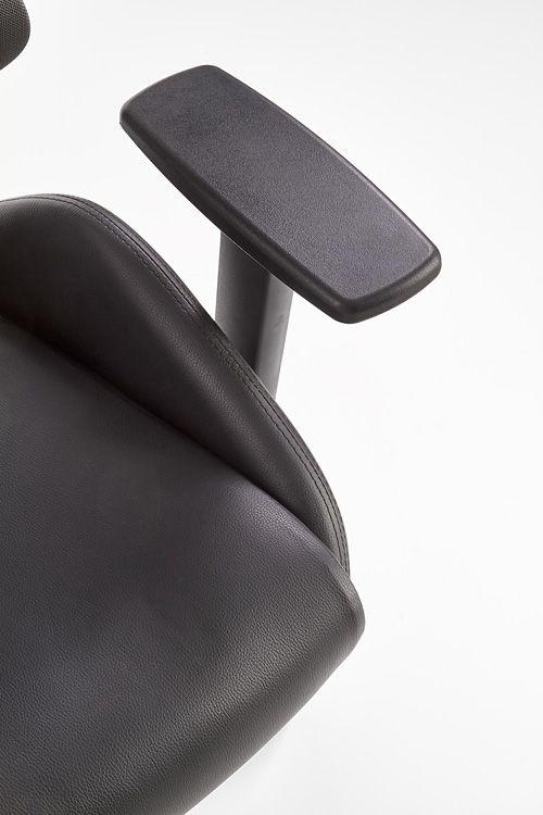 Wygodny fotel do gabinetu Almon - czarny