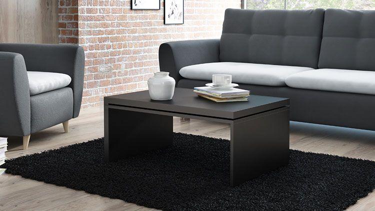 Czarny stolik kawowy do pokoju Ilia