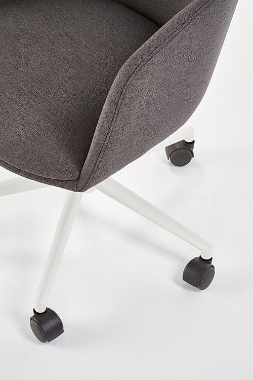 Komfortowy fotel do biura Renes - popielato - biały