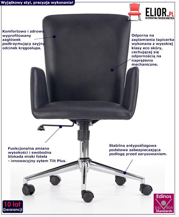 Minimalistyczny fotel obrotowy Odel - do biura