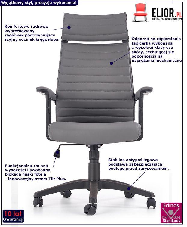 Komfortowy fotel do gabinetu Taurus - obrotowy