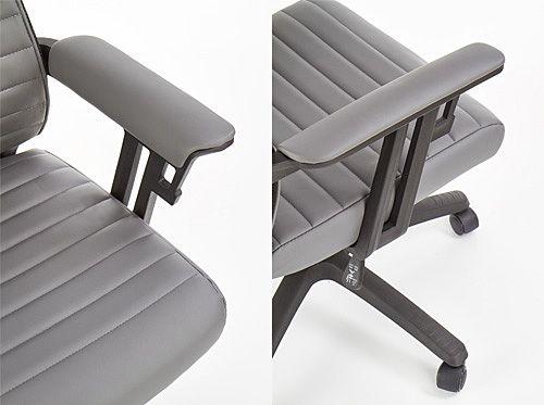 Nowoczesny fotel obrotowy Taurus - popielaty