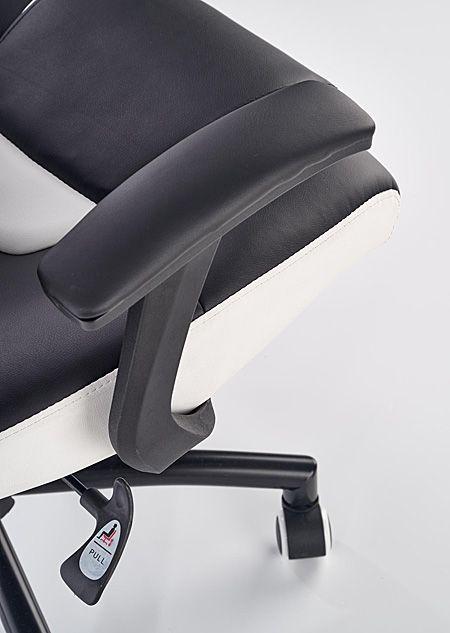 Komfortowy fotel gabinetowy Cotto - czarno - biały