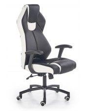 Fotel gabinetowy Cotto - czarno - biały