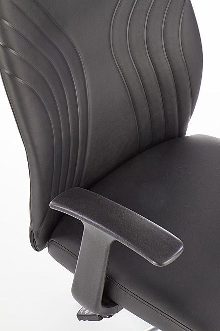 Komfrotowy fotel biurowy Durant - czarny