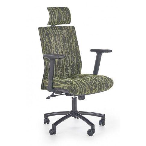 Zdjęcie produktu Fotel gabinetowy Ibis - czarno -zielony.