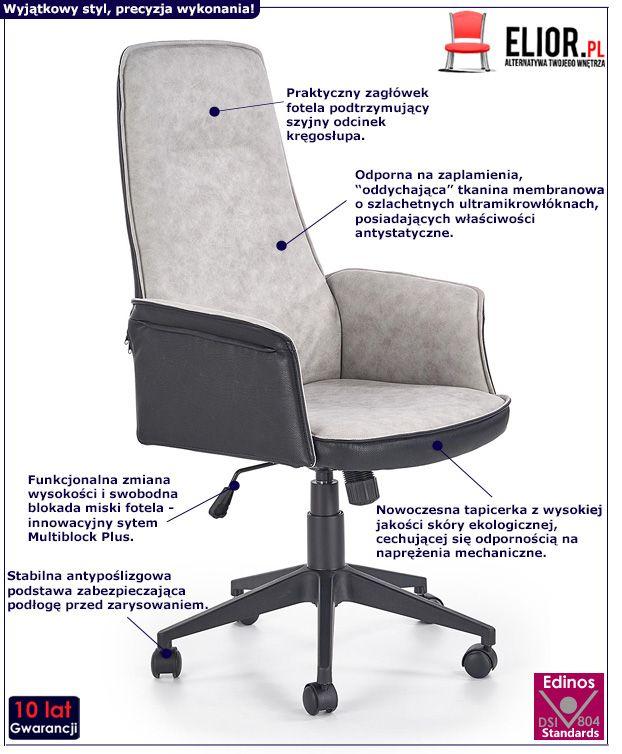 Minimalistyczny fotel obrotowy Rimbo - do biura
