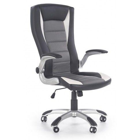 Zdjęcie produktu Fotel obrotowy Ragot -  czarno - szary - biały.