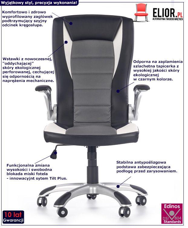 Stylowy fotel do gabinetu Ragot - obrotowy