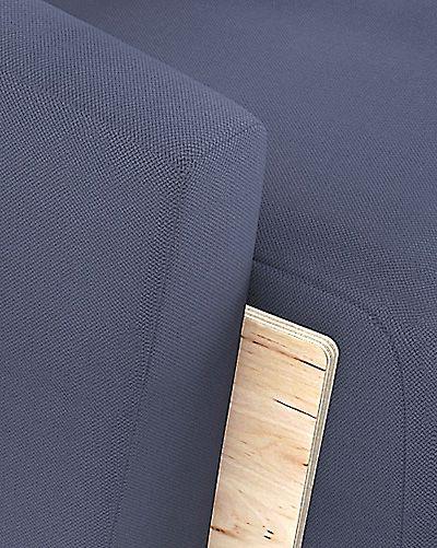Komfortowy fotel wypoczynkowy Pierot - ciemnoniebieski