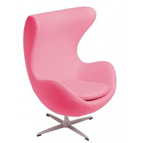 Zdjęcie produktu Obrotowy fotel wypoczynkowy uszak Eggi - różowy.