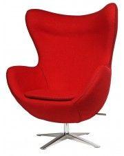 Fotel wypoczynkowy Eggi - czerwony w sklepie Edinos.pl