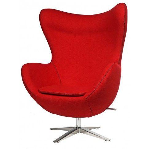 Zdjęcie produktu Fotel wypoczynkowy Eggi - czerwony.