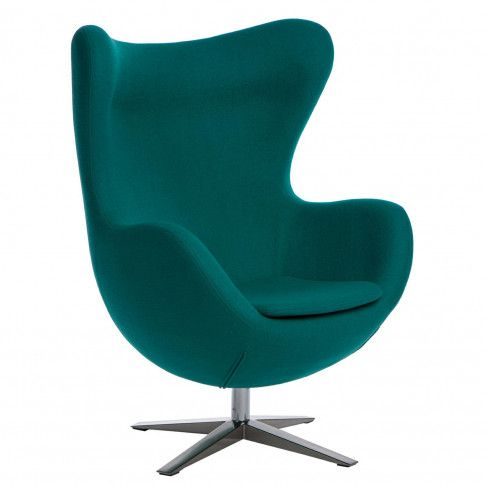 Zdjęcie produktu Obrotowy fotel uszak wypoczynkowy Eggi - turkus.