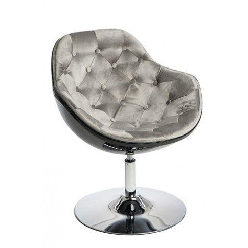 Zdjęcie produktu Obrotowy fotel wypoczynkowy Ottav - szaro-czarny.