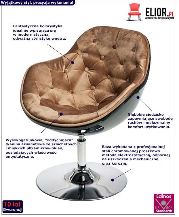 Gustowny fotel do salonu Ottav - wypoczynkowy