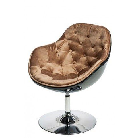 Zdjęcie produktu Fotel wypoczynkowy Ottav - brązowo - czarny.