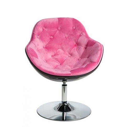 Zdjęcie produktu Fotel wypoczynkowy Ottav - różowo - czarny.