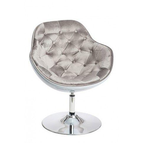 Zdjęcie produktu Fotel wypoczynkowy Ottav - szaro - biały.