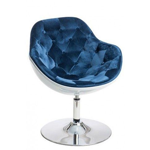 Zdjęcie produktu Fotel wypoczynkowy Ottav - niebiesko - biały.