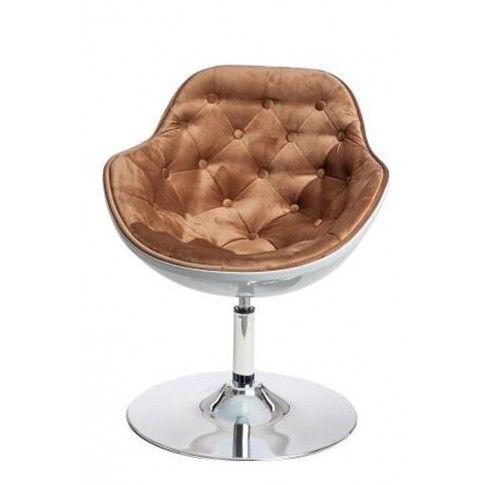 Zdjęcie produktu Fotel wypoczynkowy Ottav - brązowo - biały.