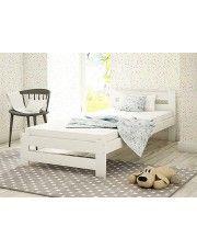Jednoosobowe łóżko Marsel 90x200 - białe