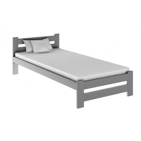 Zdjęcie produktu Jednoosobowe łóżko Marsel 90x200 - szare.
