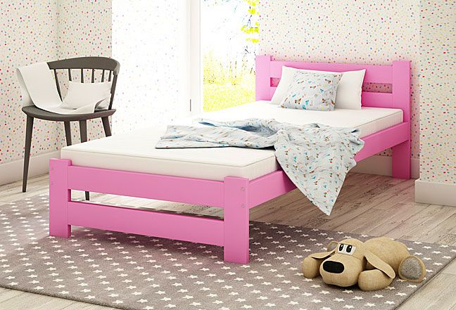 łóżko różowe 90x200 marsel dziewczęce