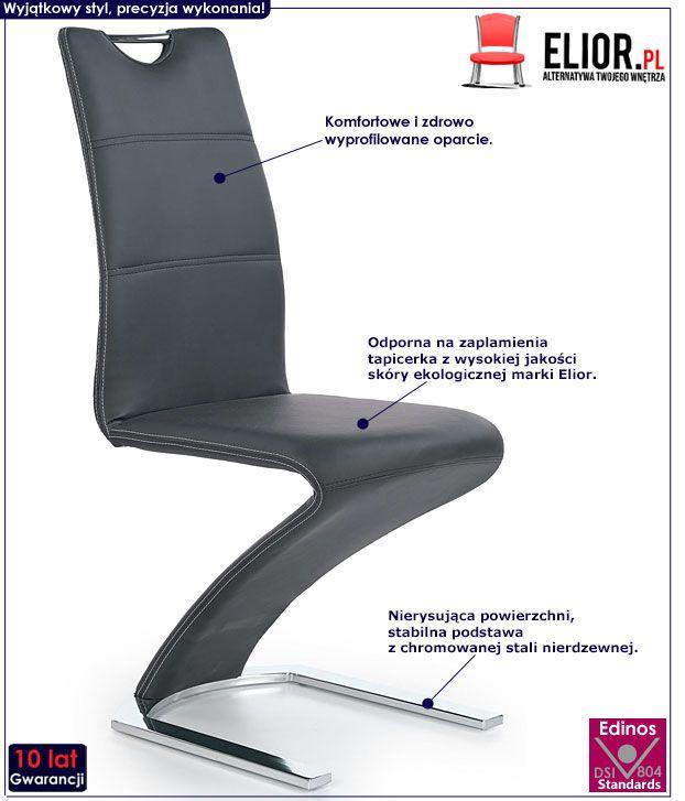 Czarne krzesło kuchenne Diskin